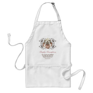 Custom Wedding Cake Modern Dot Stripe Swirls Adult Apron