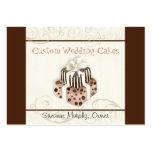Custom Wedding Cake Modern Dot Stripe Swirls Business Cards