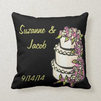 Custom Wedding Cake Pillow