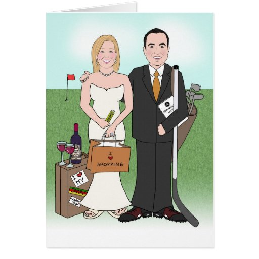 Custom Wedding Caricature Invitation Card