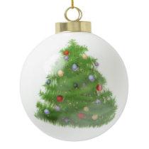 Custom Wedding Christmas Tree Ceramic Ball Ornamen Ceramic Ball Christmas Ornament