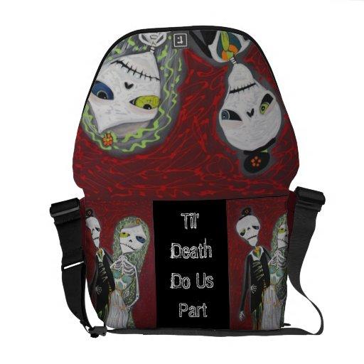 Custom Wedding Couple / Married Dead Rickshaw Mess Messenger Bag