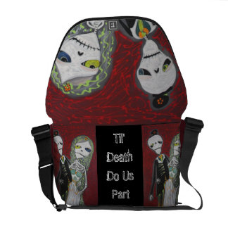 Custom Wedding Couple / Married Dead Rickshaw Mess Messenger Bags