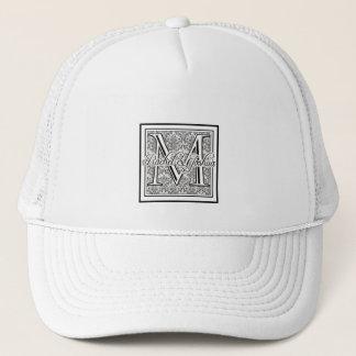 Custom Wedding Damask Logo Trucker Hat