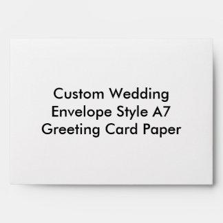 Custom Wedding  Envelope Style A7  Greeting Card