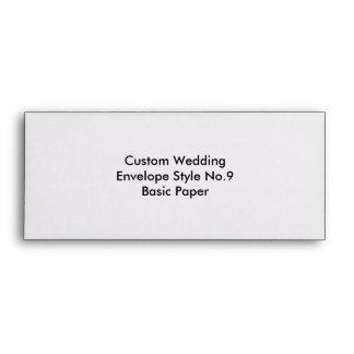 Custom Wedding Envelope Style No.9 Basic Paper