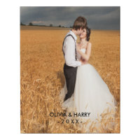 Custom Wedding Faux Wrapped Canvas Print