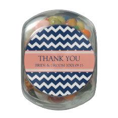 Custom Wedding Favor Candy Jar Blue Coral Glass Jar at Zazzle