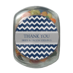 Custom Wedding Favor Candy Jar Blue Grey Jelly Belly Candy Jars at Zazzle