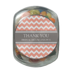 Custom Wedding Favor Candy Jar Grey Coral Glass Jars at Zazzle