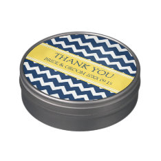 Custom Wedding Favor Candy Tin Blue Yellow at Zazzle