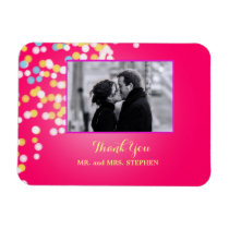 Custom Wedding Favor Thank You Photo Magnet
