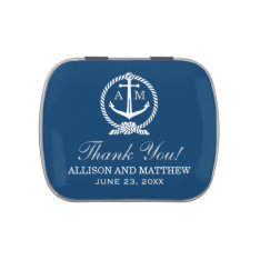 Custom Wedding Favor Tins | Nautical Monogram Candy Tins at Zazzle