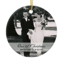 Custom Wedding  |  First Christmas Photo Ornament