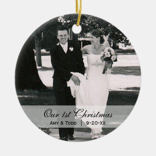 Custom Wedding  |  First Christmas Photo Ornament