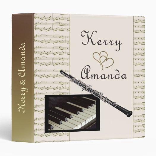 Custom Wedding for Kerry And Amanda 3 Ring Binder