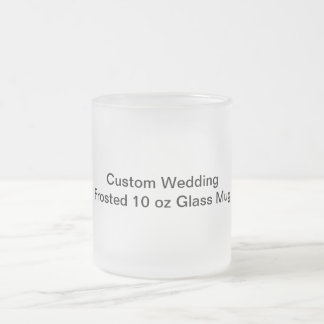 Custom Wedding Frosted 10 oz Glass Mug