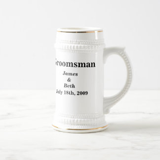 Custom Wedding Groomsman Beer Stein