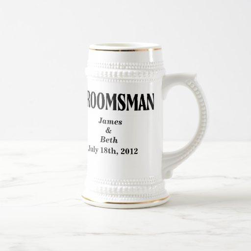 Custom Wedding Groomsman Beer Stein Coffee Mugs Zazzle