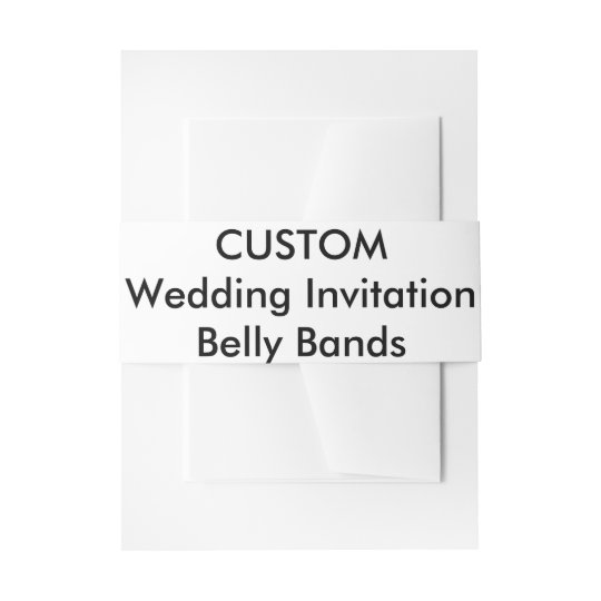 Custom Wedding Invitation Belly Bands Wraps Invitation