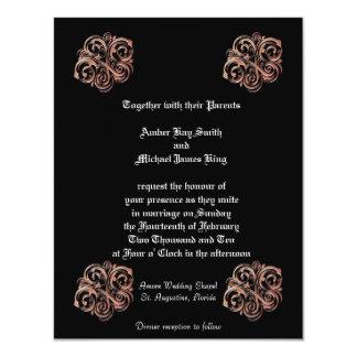 Custom Wedding Invitations Black 2 sided