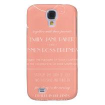 Custom Wedding Invitations Galaxy S4 Cover