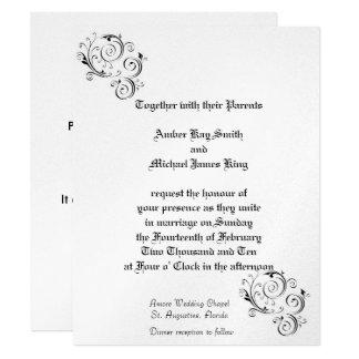 Custom Wedding Invitations METALLIC finish