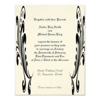Custom Wedding Invitations two side print
