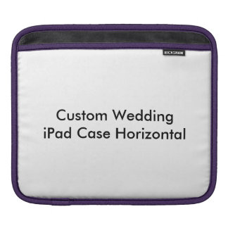 Custom Wedding iPad Case Horizontal
