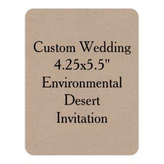 Custom Wedding Kraft Environmental Desert Invit Card
