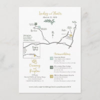 Custom Wedding Map Enclosure Card