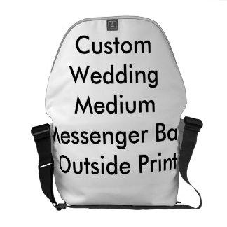 Custom Wedding Medium Messenger Bag  Outside Print