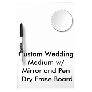 Custom Wedding Medium Mirror & Pen Dry Erase Board