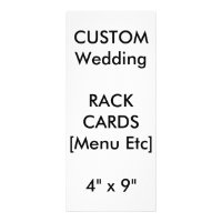 Custom Wedding Menu & Program Cards 9