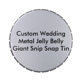 Custom Wedding Metal Jelly Bean Giant Tin Template Jelly Belly Candy Tin