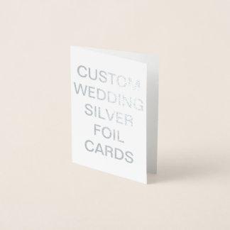 Custom Wedding Mini Personalized Silver Foil Card