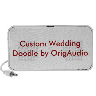 Custom Wedding Mini Speaker Blank Template