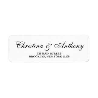 Custom Wedding Monogram Return Address Labels