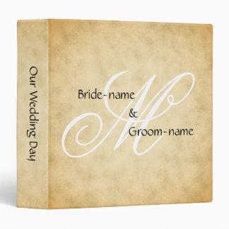 Custom Wedding Monogram Vintage Style Binder