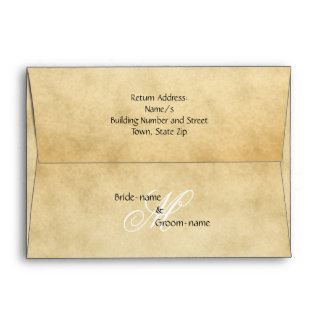 Custom Wedding Monogram Vintage Style Envelope