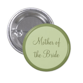 Custom Wedding Mother of the Bride Pinback Buttons Pinback Buttons