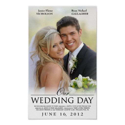 Free wedding movie poster template maker