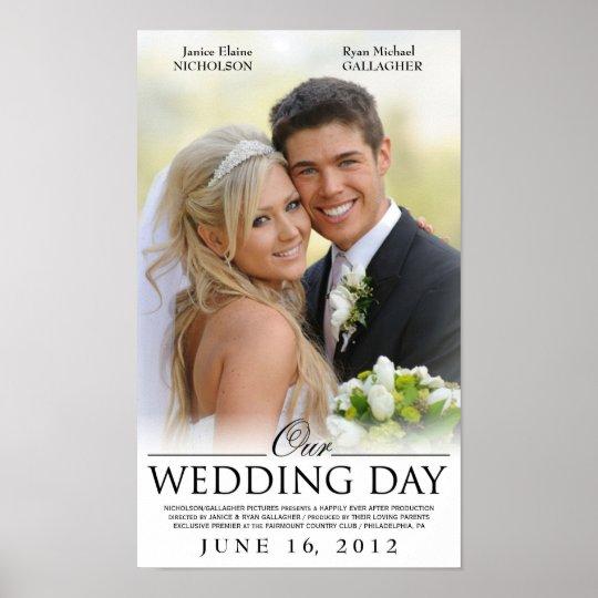 Custom Wedding Movie Poster Template