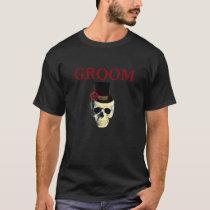 Custom Wedding Party T-Shirt ~ SKULL GROOM