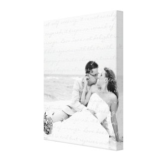 Custom Wedding Photo and Lyrics Canvas Art