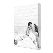 Custom Wedding Photo and Lyrics Canvas Art