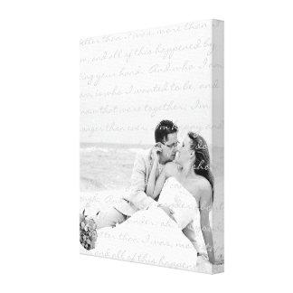 Custom Wedding Photo and Lyrics Canvas Art Canvas Print