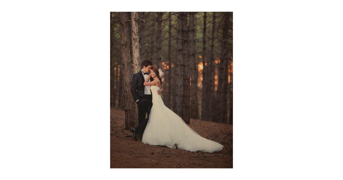 Custom Wedding Photo Art Print on Wood   Zazzle