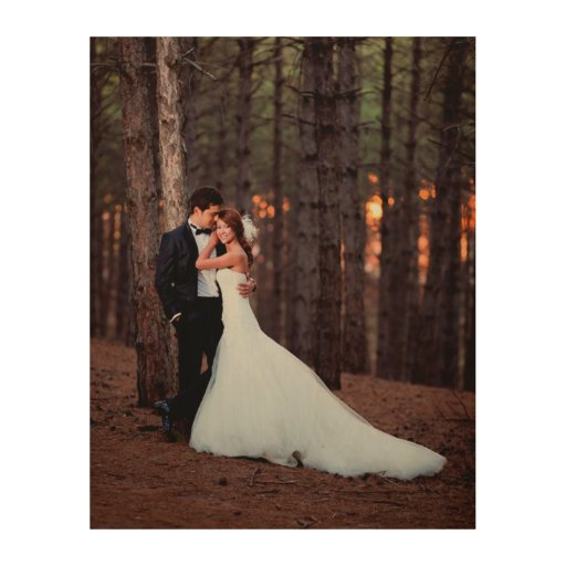 Custom Wedding Photo Art Print on Wood Wood Wall Art