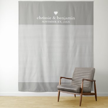 Bride Themed Custom Wedding Photo Backdrop Bride Groom Stripes Tapestry